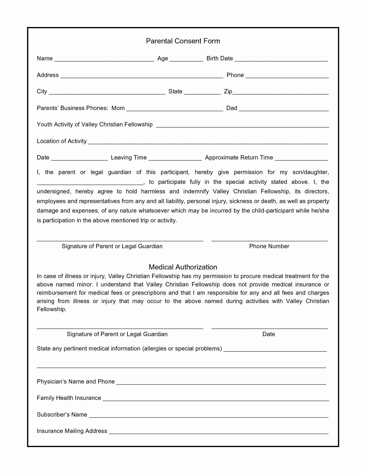 Child Travel Consent form Template Inspirational Parental Consent form for S Swifter Parental