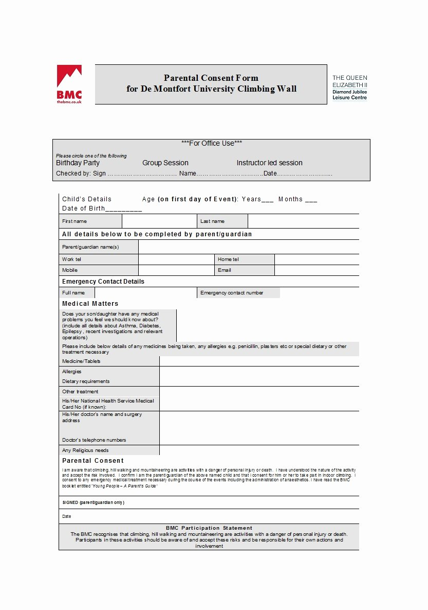 Child Travel Consent form Template Luxury 50 Printable Parental Consent form & Templates Template Lab