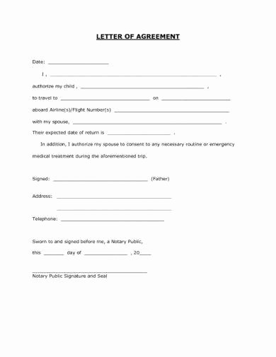 Child Travel Consent form Template Unique 17 Authorization Letter for A Child to Travel Examples