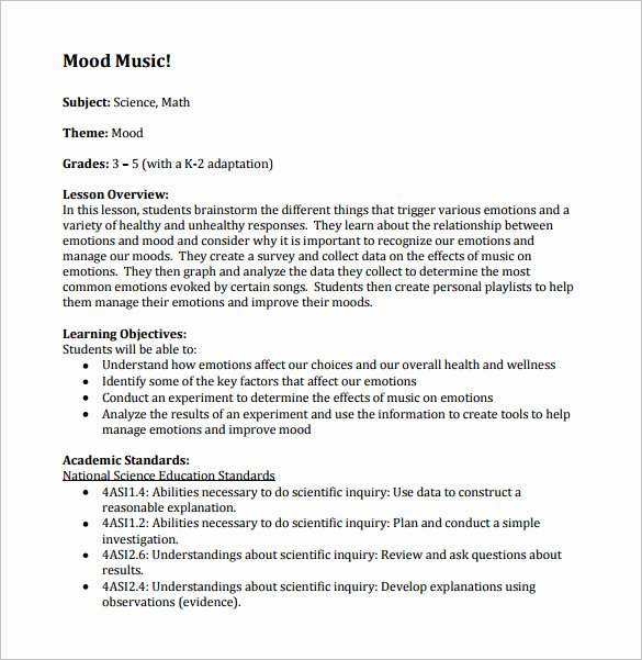 Choir Lesson Plan Template Best Of Music Lesson Plan Template 7 Free Word Excel Pdf