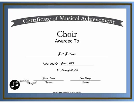 Choir Lesson Plan Template Luxury Free Printable Choir Certificates