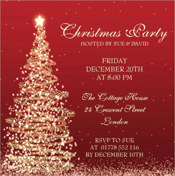 Christmas Party Invite Template Word Awesome Christmas Invitation Template – 26 Free Psd Eps Vector