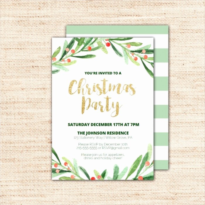 Christmas Party Invite Template Word Beautiful Awesome Printable Christmas Invitation Templates Gallery