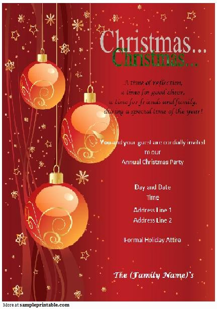 Christmas Party Invite Template Word Beautiful Christmas Party Invitation Printable Christmas Party