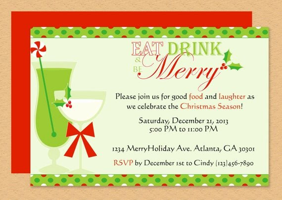 Christmas Party Invite Template Word Elegant Be Merry Invitation Editable Template Microsoft Word