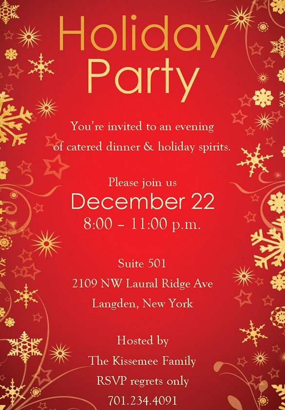 Christmas Party Invite Template Word Elegant Holiday Invitation Template – 17 Psd Vector Eps Ai Pdf