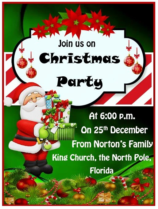 Christmas Party Invite Template Word Inspirational 15 Free Christmas Party Invitation Templates Ms Fice