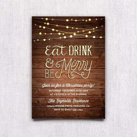 Christmas Party Invite Template Word Inspirational Items Similar to Printable Christmas Party Invitation