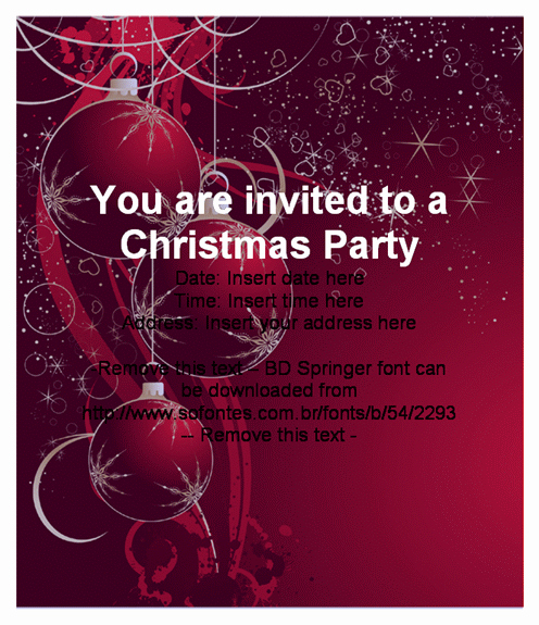 Christmas Party Invite Template Word Luxury Beautiful Christmas Party Invitation Card