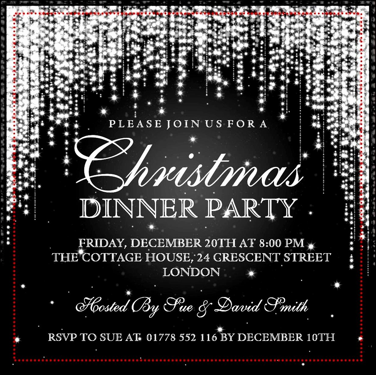 Christmas Party Invite Template Word Unique Christmas Invitation Template