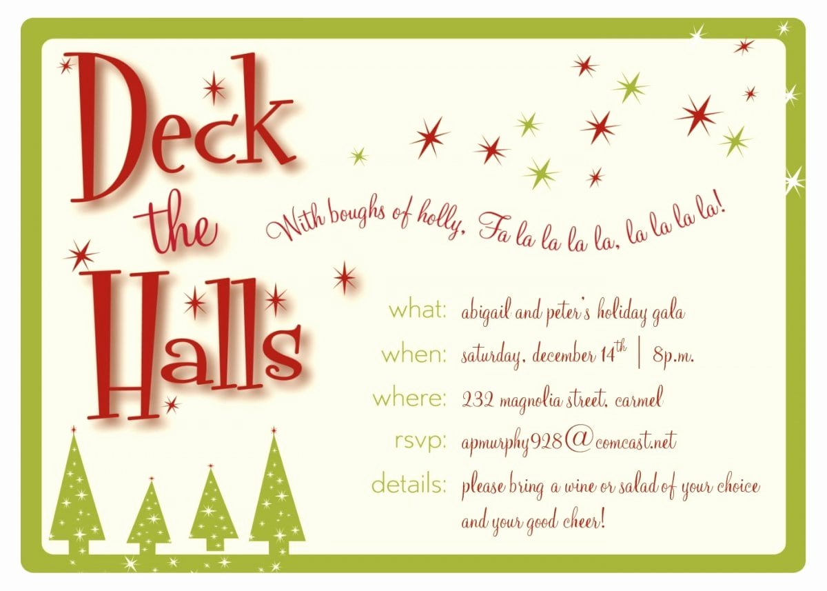 Christmas Party Invite Template Word Unique Christmas Invitation Templates