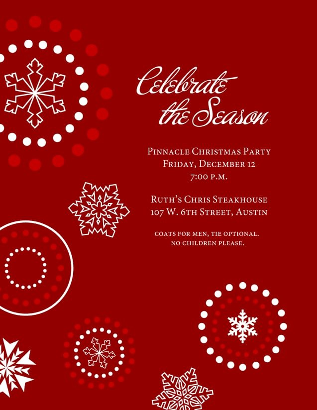 Christmas Party Invite Template Word Unique Words for Year End Christmas Function Invitations