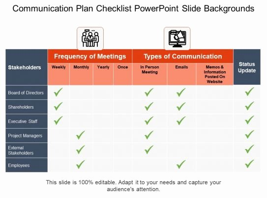 Church Communication Plan Template Awesome Munication Plan Checklist Powerpoint Slide Backgrounds