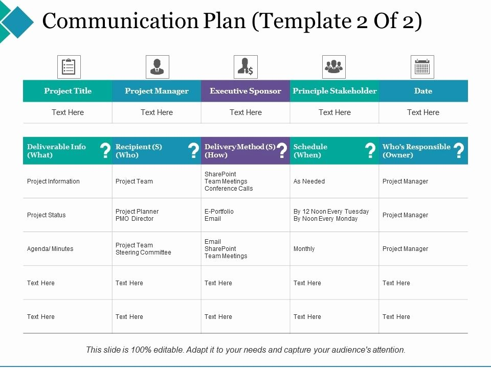 Church Communication Plan Template Unique Munication Plan Principle Stakeholder Project Manager