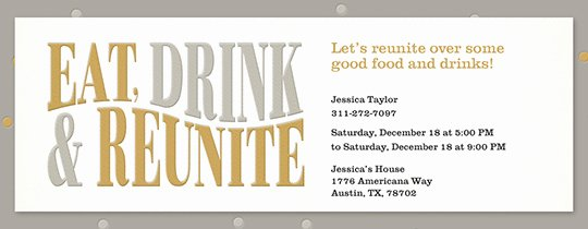 Class Reunion Invitation Template Awesome Free Class & Family Reunion Invitations