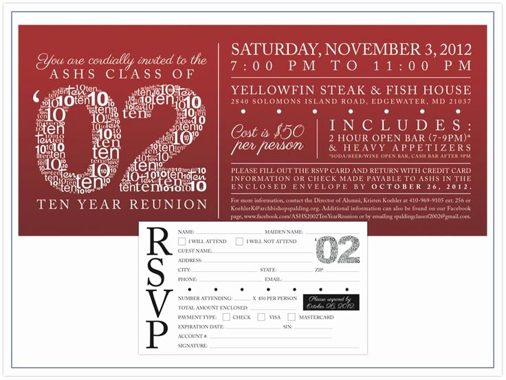 Class Reunion Invitation Template Best Of High School Reunion Invitation Wording