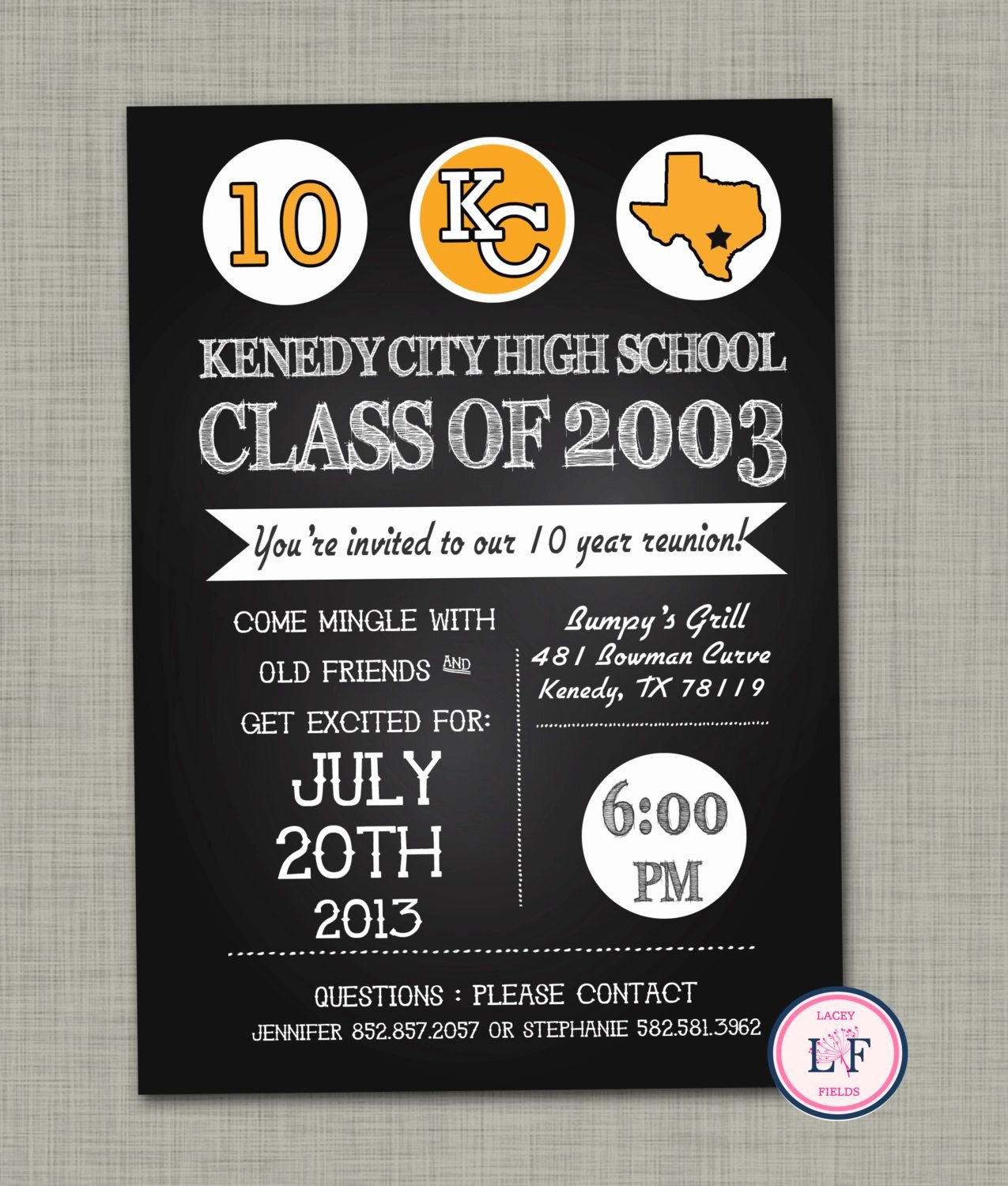 Class Reunion Invitation Template Elegant High School Reunion Invitation Printable Family by