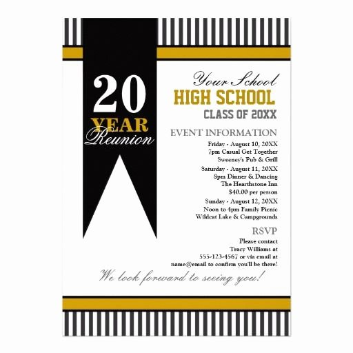 Class Reunion Invitation Template Fresh High School Class Reunion Card