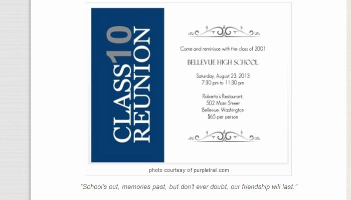 Class Reunion Invitation Template Inspirational 5 High School Reunion Flyer Templates