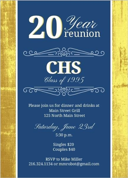 Class Reunion Invitation Template Inspirational Class Reunion Invitation Ideas