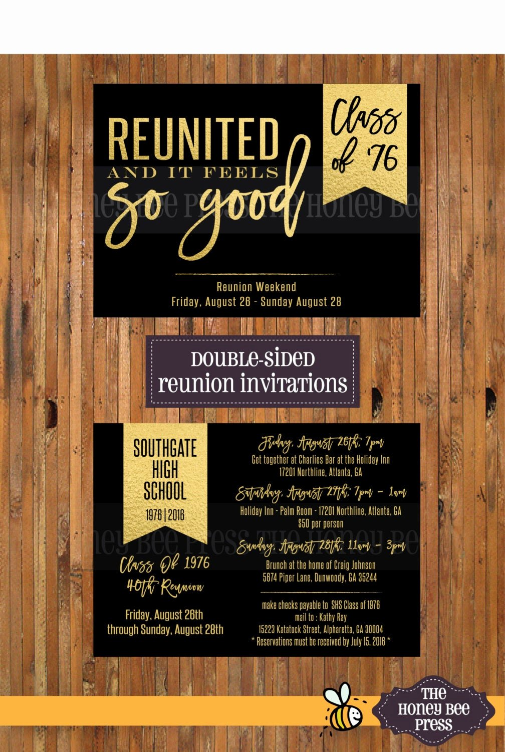 Class Reunion Invitation Template Inspirational Reunited and It Feels so Good High School Reunion Invitations