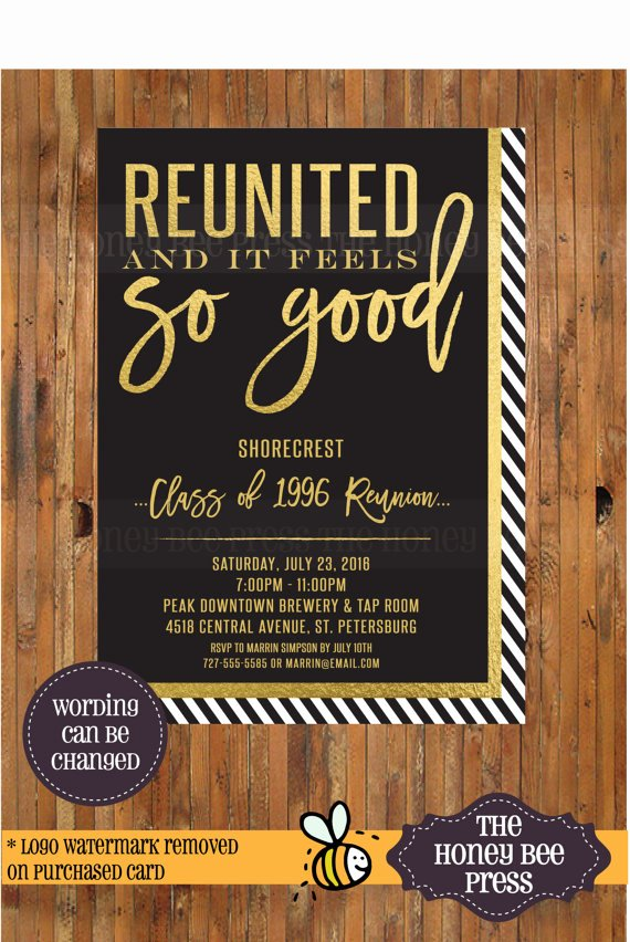 Class Reunion Invitation Template Luxury High School Reunion Invitation Reunited and It Feels so