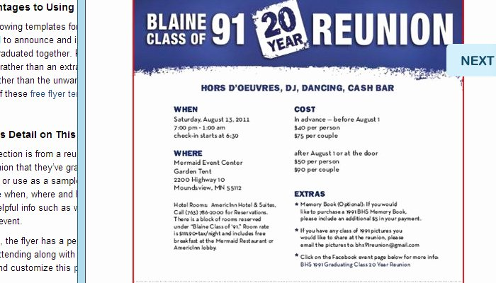 Class Reunion Invitation Template Unique 5 High School Reunion Flyer Templates