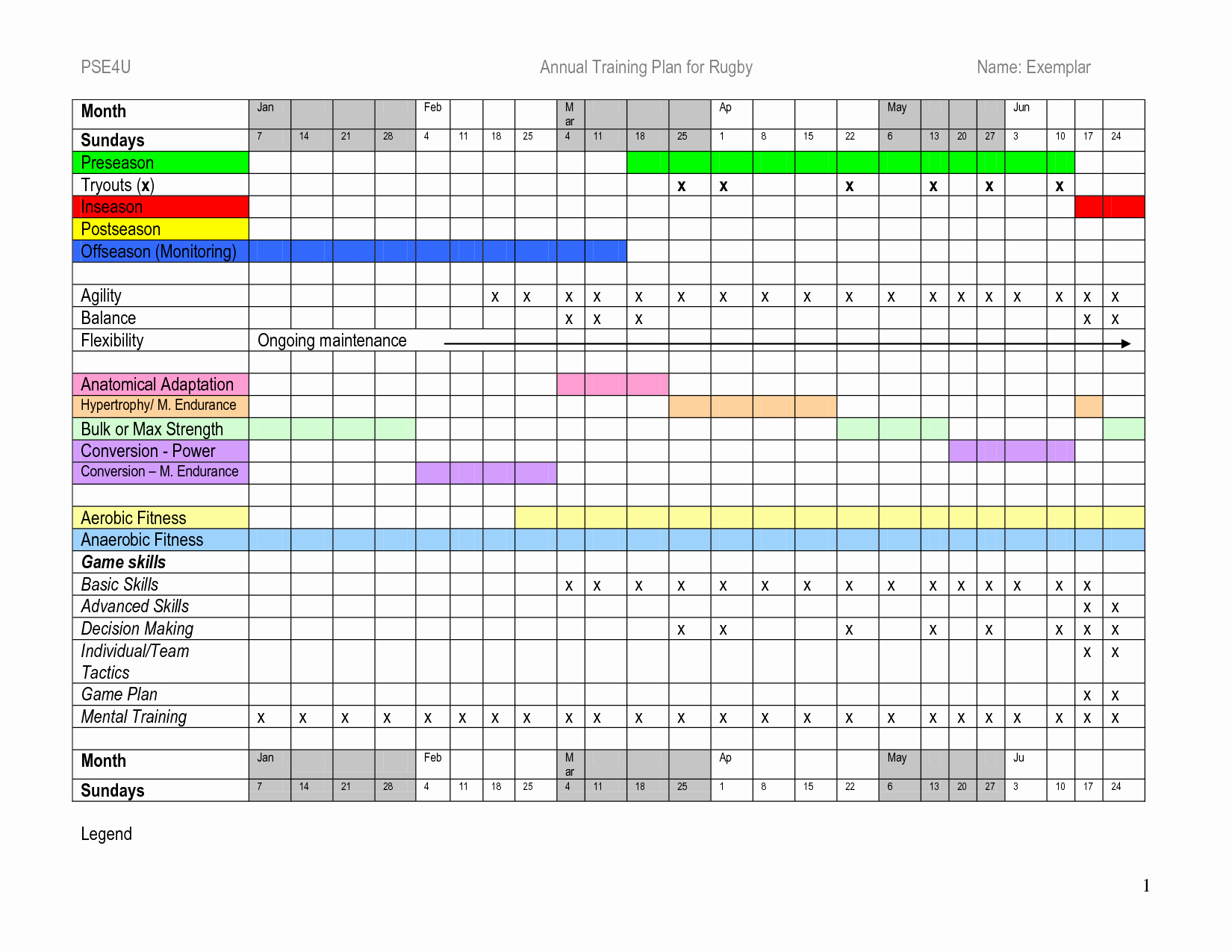 Class Schedule Template Excel Awesome Annual Training Plan Template Excel – Printable Schedule
