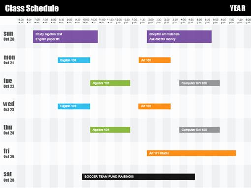 Class Schedule Template Excel Fresh Class Schedule Templates