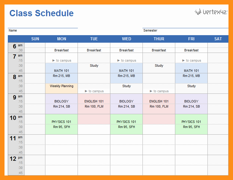 Class Schedule Template Online Best Of 12 13 Fitness Class Schedule Template