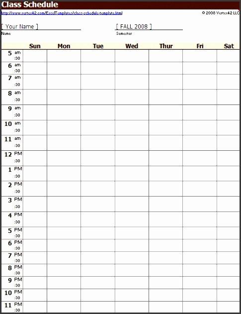 Class Schedule Template Online Fresh 10 Class Schedule Maker Sampletemplatess Sampletemplatess
