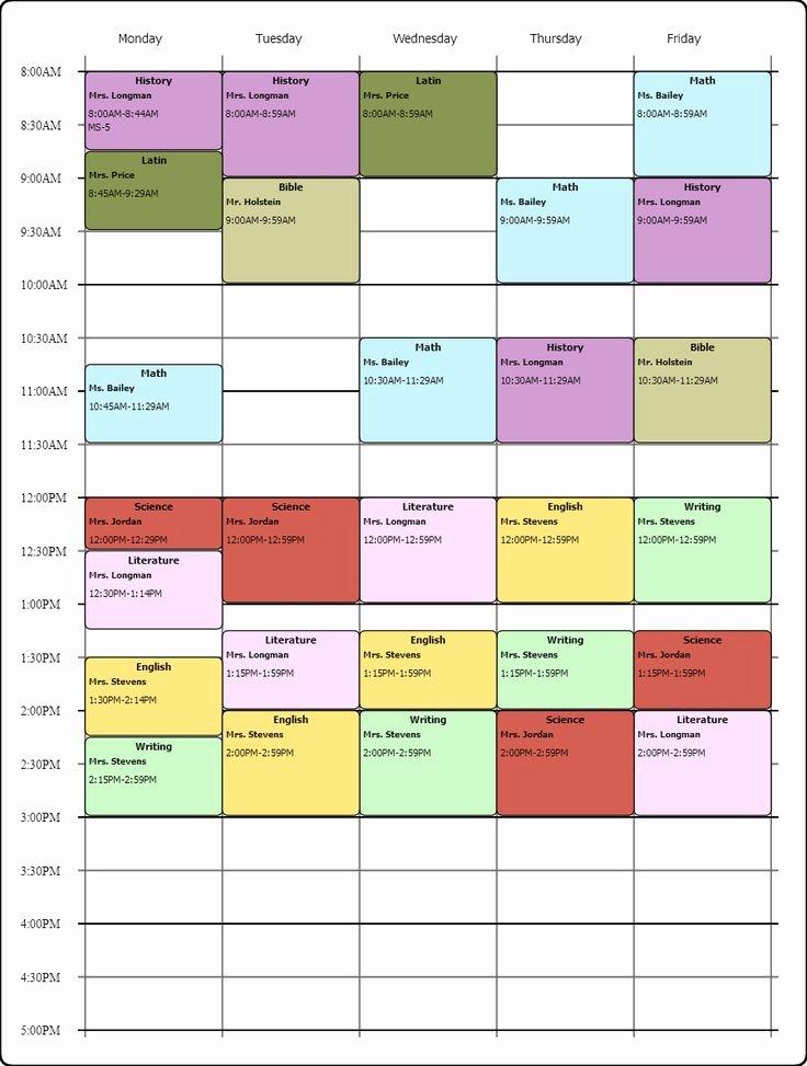 weekly class schedule maker 2058