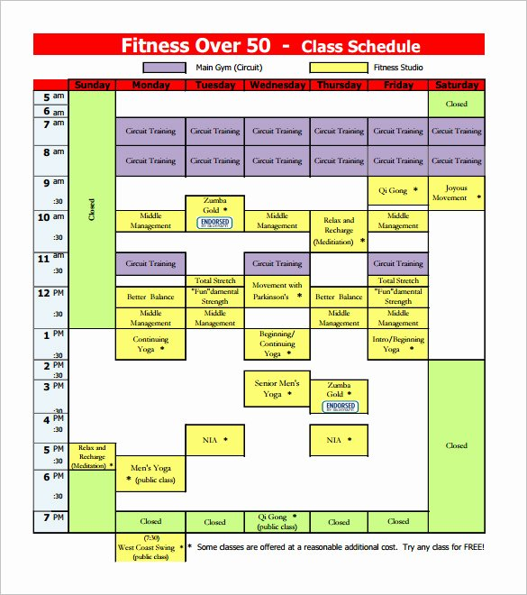 Class Schedule Template Online New Class Schedule Template 36 Free Word Excel Documents