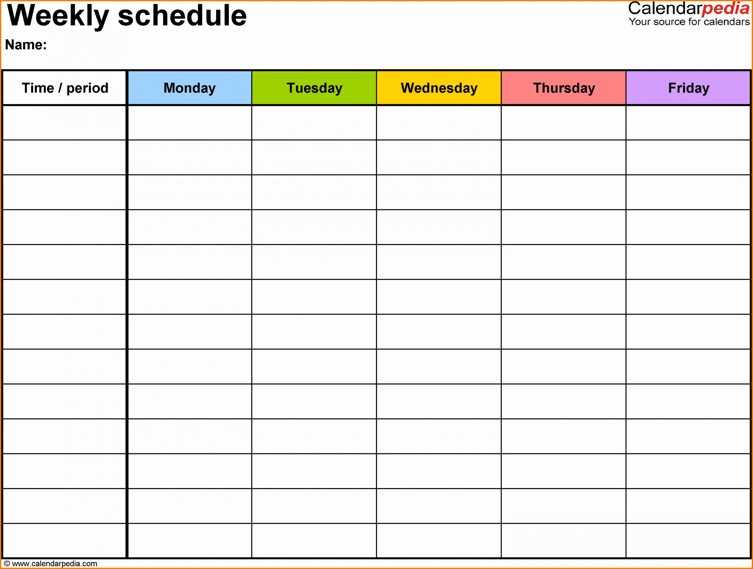 Class Schedule Template Online New Weekly Class Schedule Template