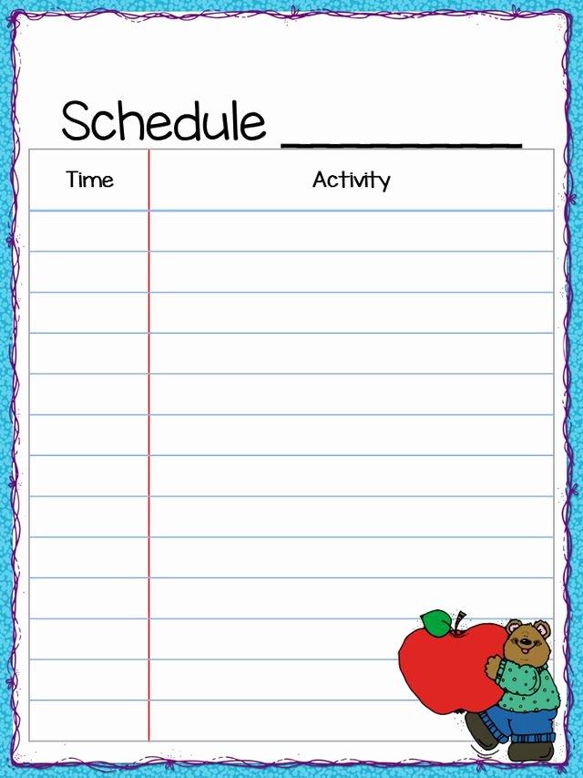 Class Schedule Template Word Fresh Class Schedule Freebie