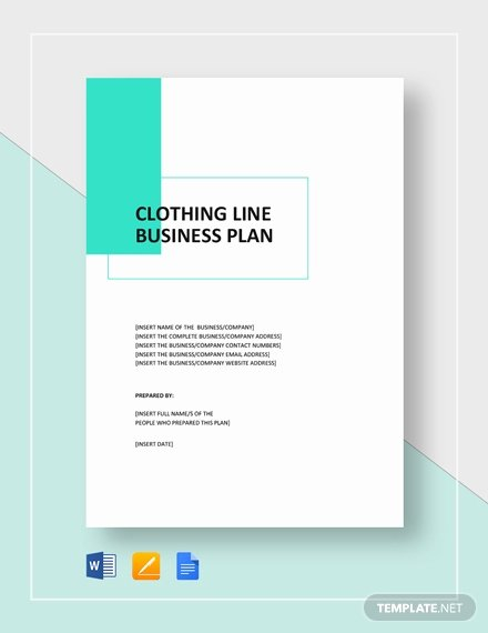 Clothing Line Business Plan Template Best Of Clothing Line Business Plan Template Word