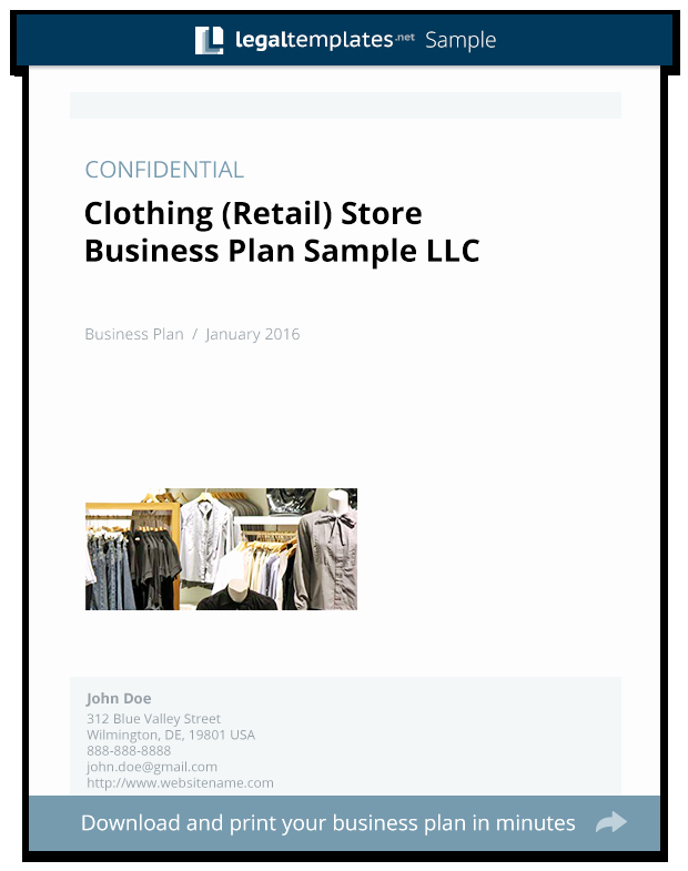 Clothing Line Business Plan Template Best Of Clothing Retail Store Business Plan Sample