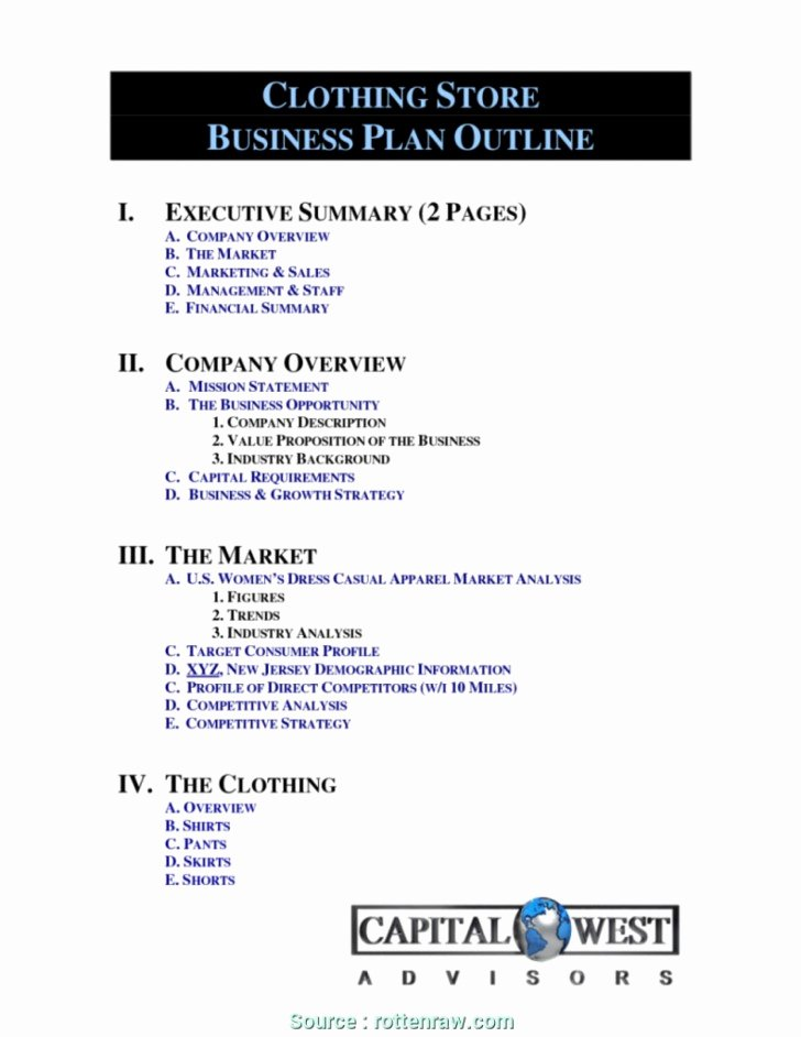 Clothing Line Business Plan Template New 023 Free Sample Nonprofit Business Plan Template Ideas