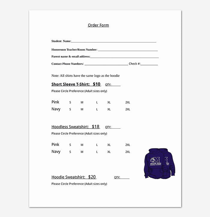 Clothing order form Template Excel Beautiful T Shirt order form Template 17 Word Excel Pdf