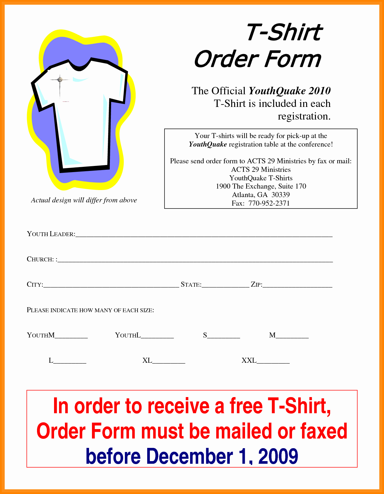 Clothing order form Template Excel Best Of 5 T Shirt order form Template Excel