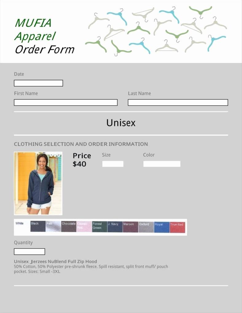 Clothing order form Template Excel Elegant 9 Apparel order form Templates No Free Word Pdf Excel