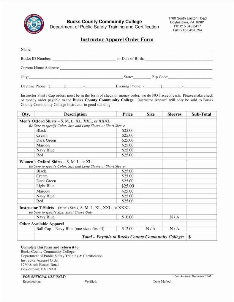 Clothing order form Template Excel Lovely 9 Apparel order form Templates No Free Word Pdf Excel