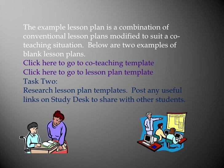 Co Teaching Lesson Plan Template Fresh Co Teaching In Australian Schools