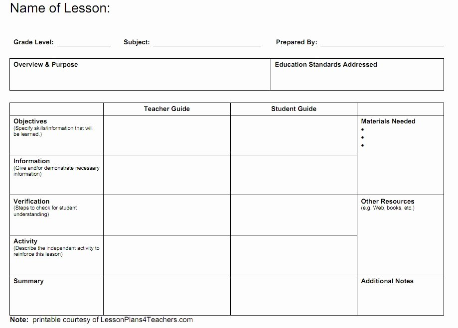 Co Teaching Lesson Plan Template Lovely Blank Lesson Plan Template