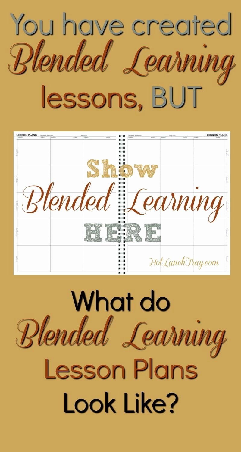 Co Teaching Lesson Plan Template Luxury Show Blended Learning In A Lesson Plan