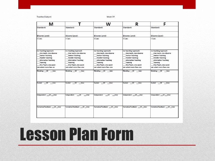 Co Teaching Lesson Plan Template Luxury Supporting Co Teaching