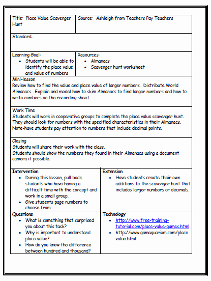 Co Teaching Planning Template Best Of Lesson Plan format Being A Teacher