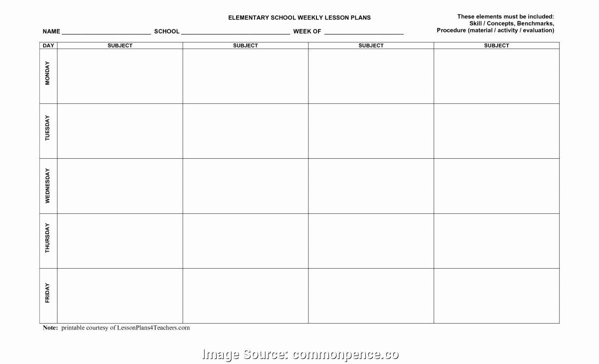 Co Teaching Planning Template Lovely Regular Lesson Plan Template Primary 35 Co Teaching Lesson