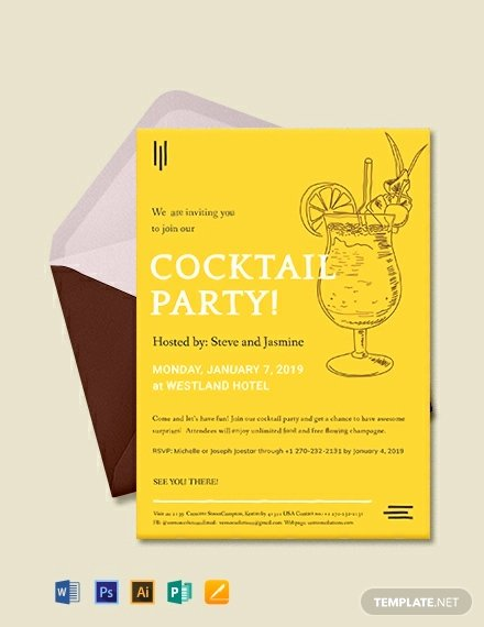 Cocktail Party Invitation Template Beautiful 11 Free Simple Invitaiton Templates In Apple Mac Pages