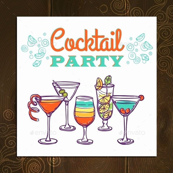 Cocktail Party Invitation Template Beautiful 21 Stunning Cocktail Party Invitation Templates & Designs